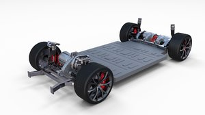 3D tesla roadster 2020 chassis