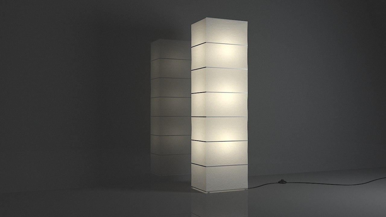 floor lamp square 3D model