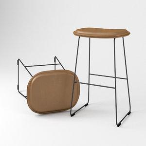capellini hi pad chair 3D model