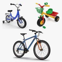 3D model child bikes