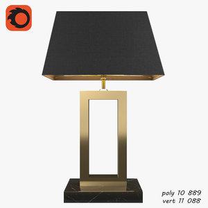 3D table lamp arlington