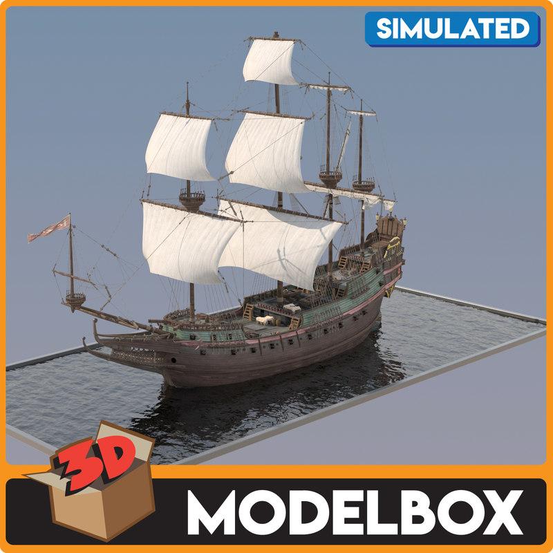 ottoman galleon 3D model