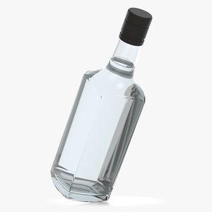 alcohol bottle glass liquid 3D
