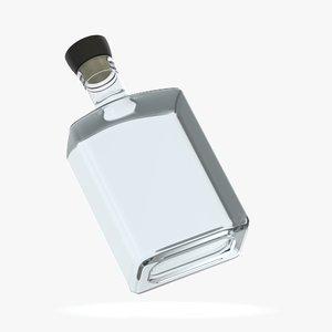 alcohol bottle glass liquid 3D model