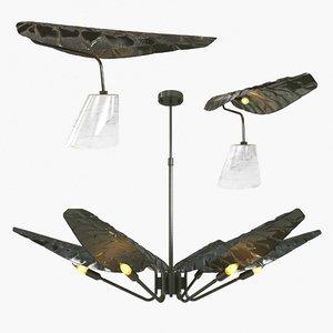 3D chandelier table light model
