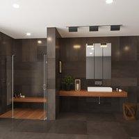 bathroom designed shower 3D model