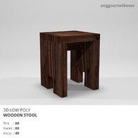 wooden stool model