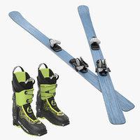snow ski boots model