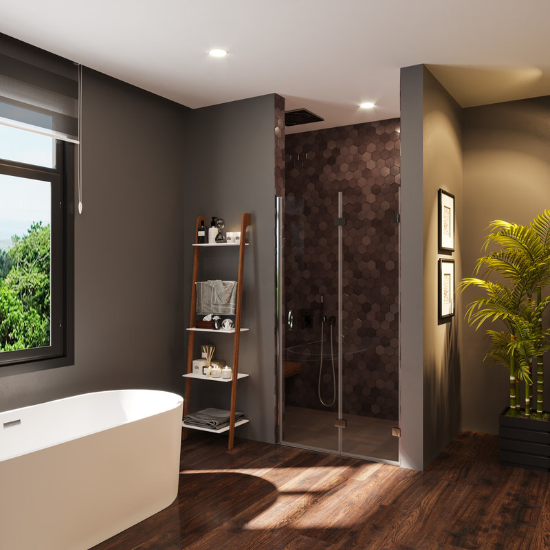 3D bathroom designed shower