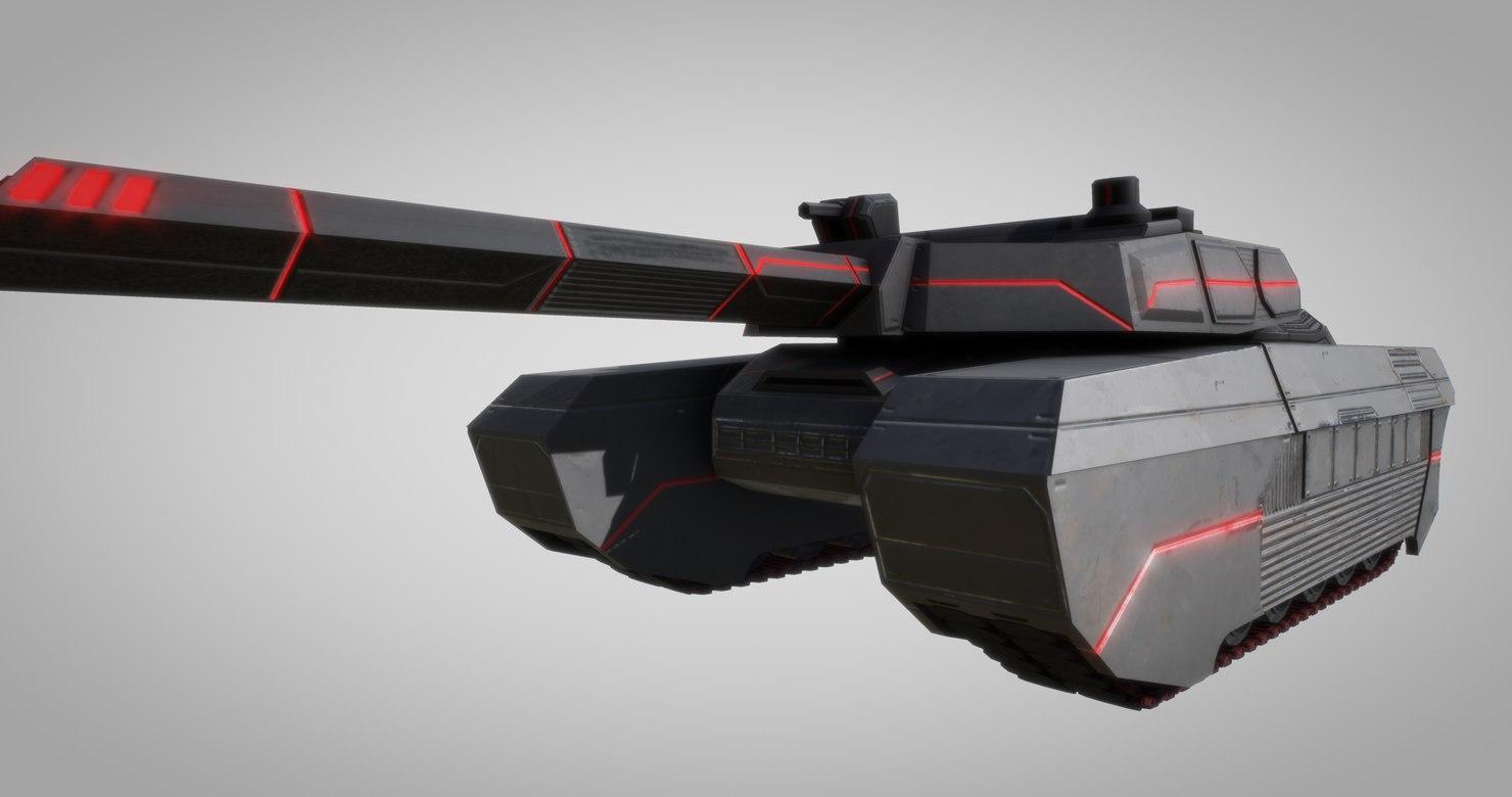 concept tank gun 3D model