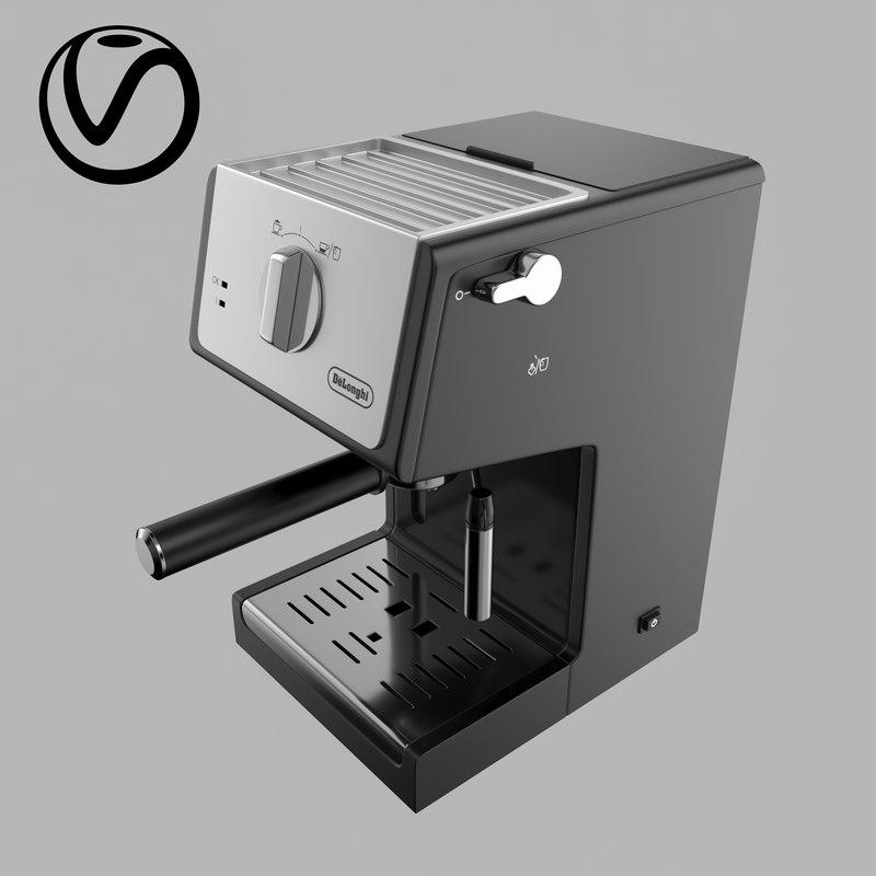 coffee machine delonghi ecp 3D
