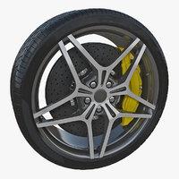 sports car wheel 3D model