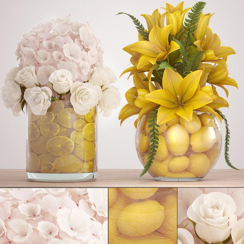 decorative bouquet flowers model