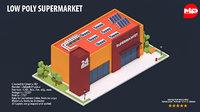 supermarket building bench 3D model