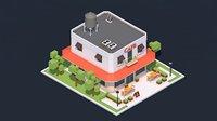3D cafe ac chimney model
