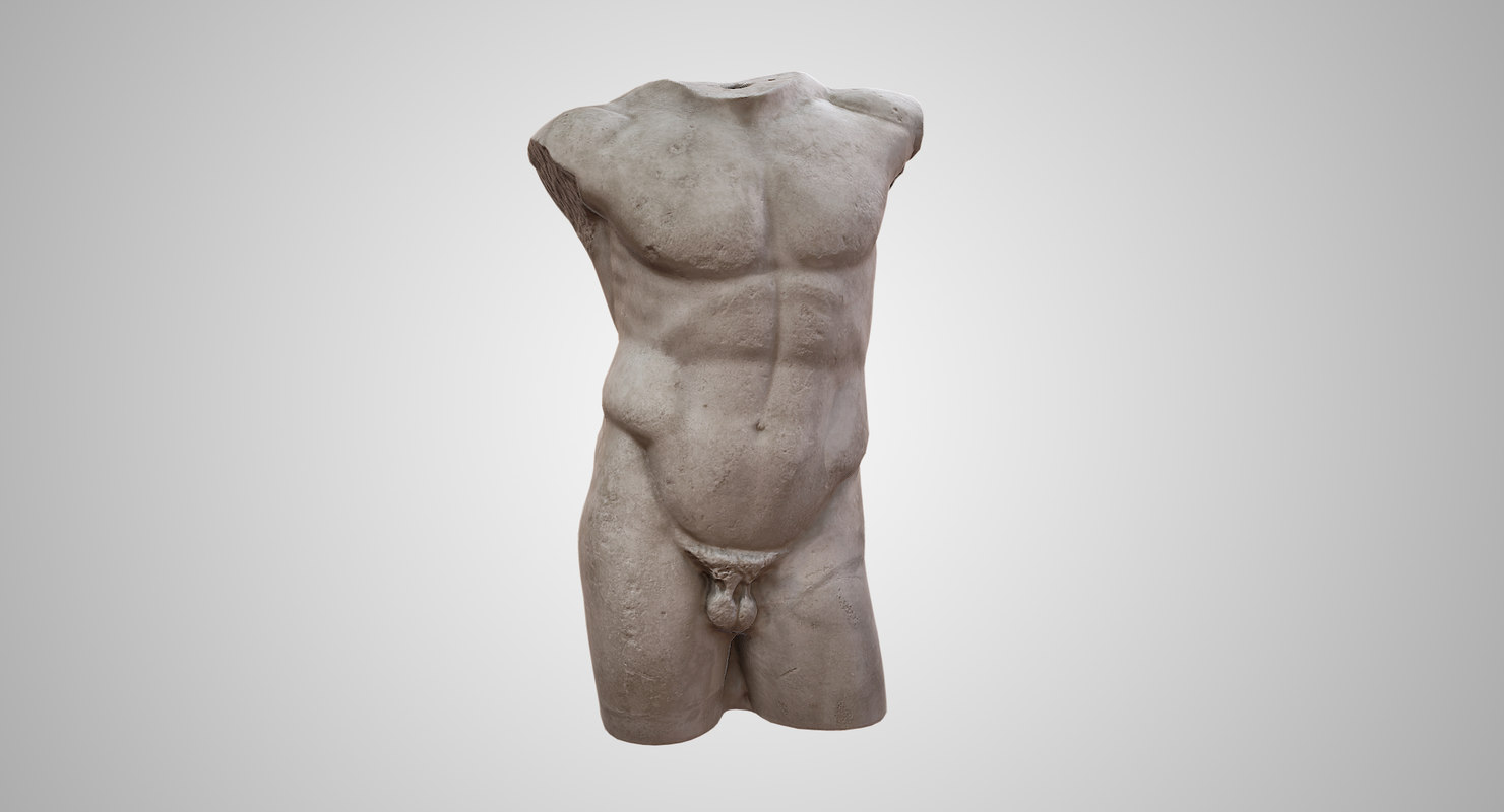 3D diadoumenos torso model