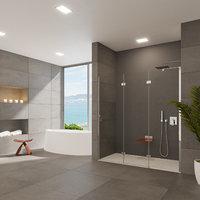 3D bathroom designed shower