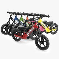 kids balance bikes 3D