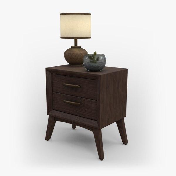 rustic nightstand furniture wood model