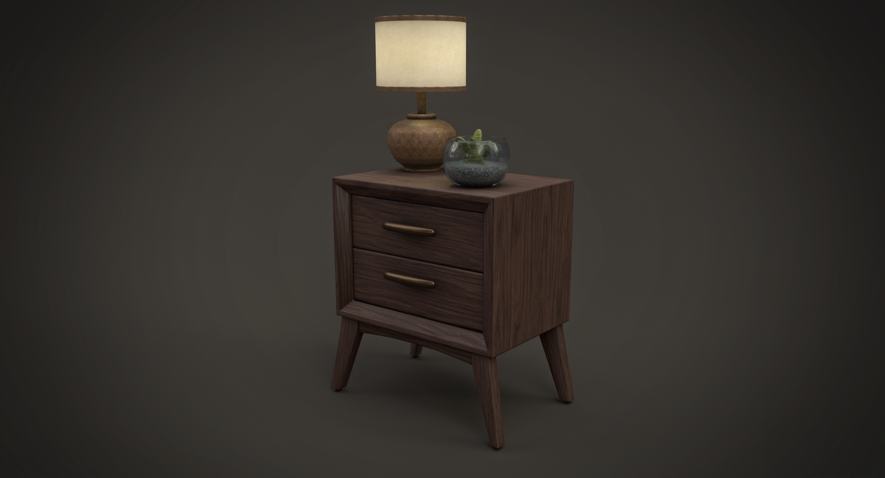 Rustic Nightstand Furniture Wood Model Turbosquid 1327302