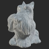 Dog figure (Scotch Terrier sits)
