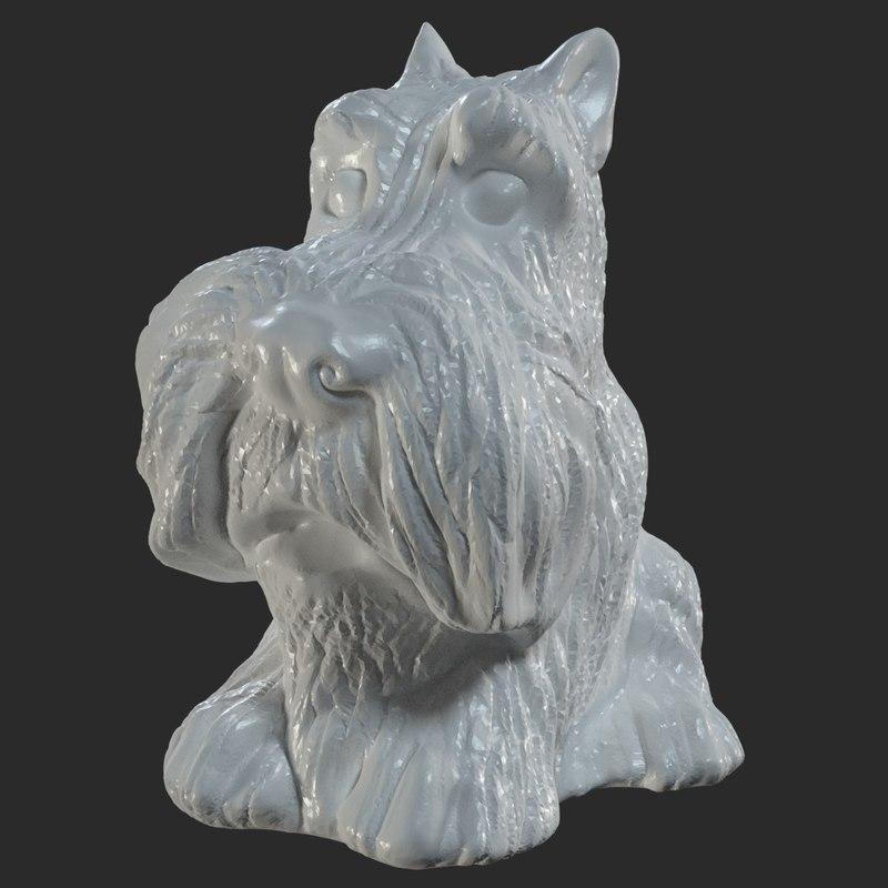 scanned figurine scotch terrier 3D model