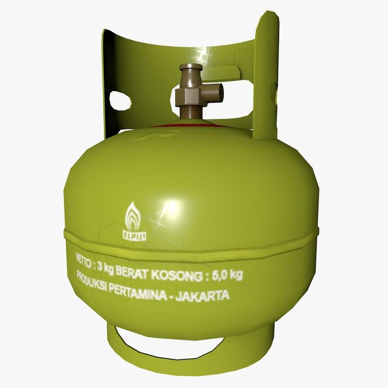 3D tabung gas lpg