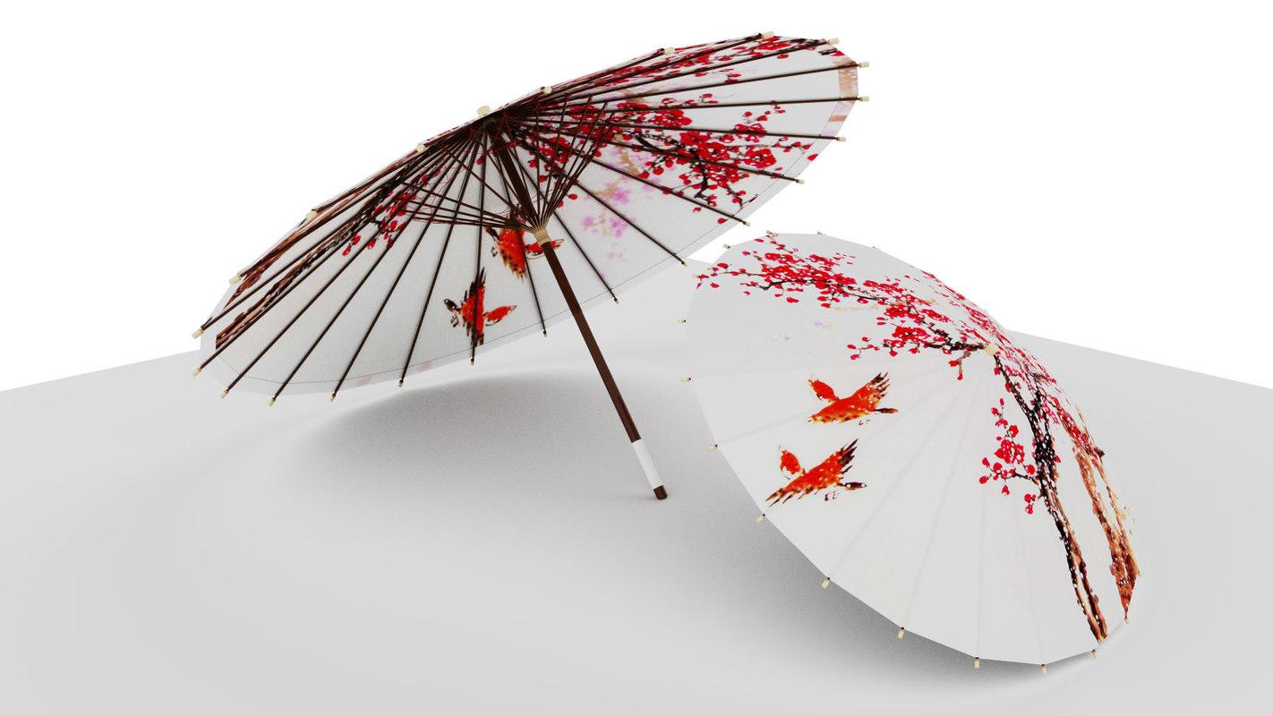 umbrella fashion 3D model