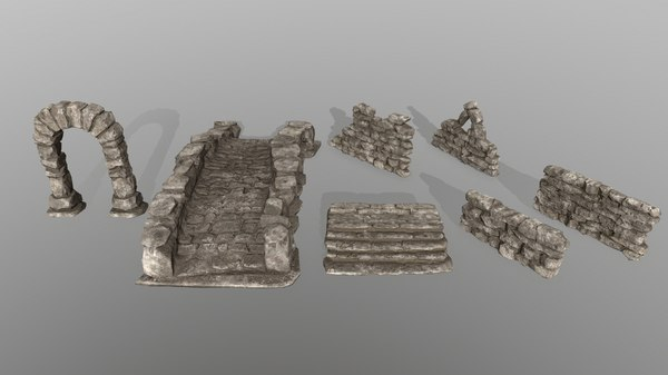 3D wall door bridge