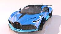 realistic sports car divo model