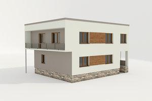 3D family house model