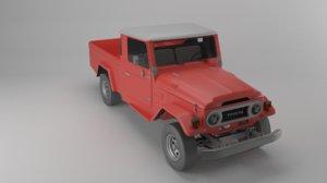 toyota land cruiser fj47 3D model
