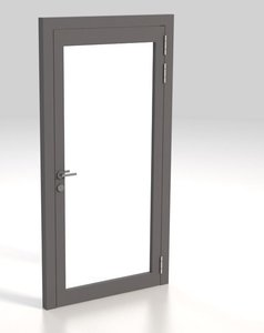 alu glas tr glass door 3D model