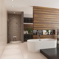 bathroom shower 3D