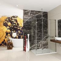 3D model bathroom designed shower