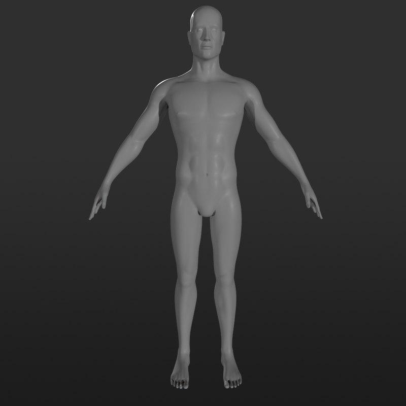 male character base mesh 3D model