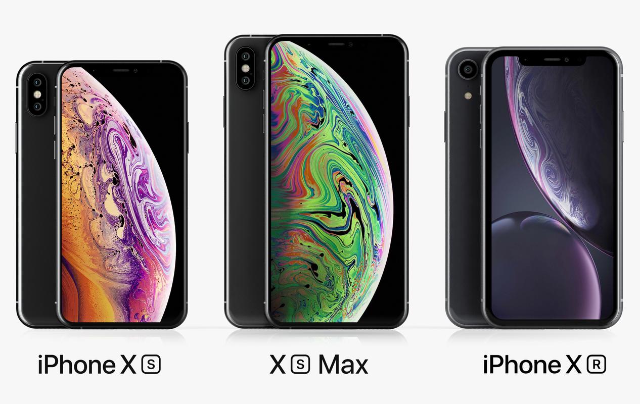 apple iphone set 2018-2019 3D