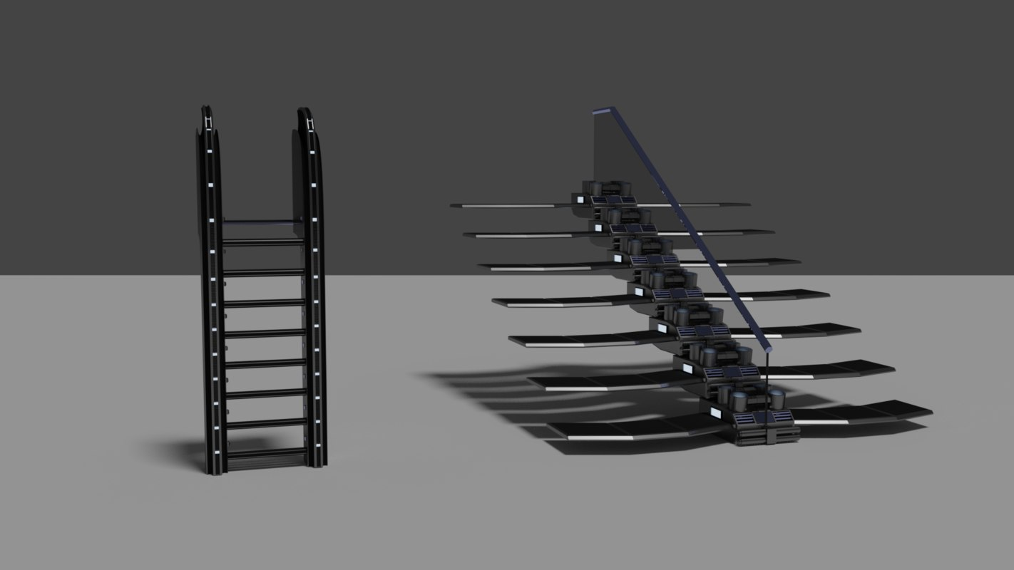 3D stairs ladder