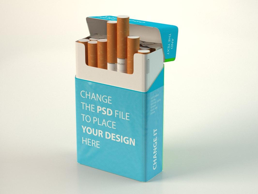 cigarette pack 3D model