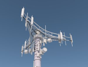 3D model cell tower