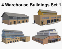 warehouse building 3D