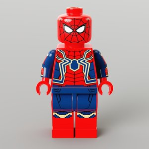 lego iron spider 3D model