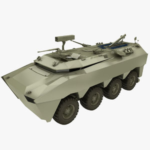 3D model 8x8 military vehicle
