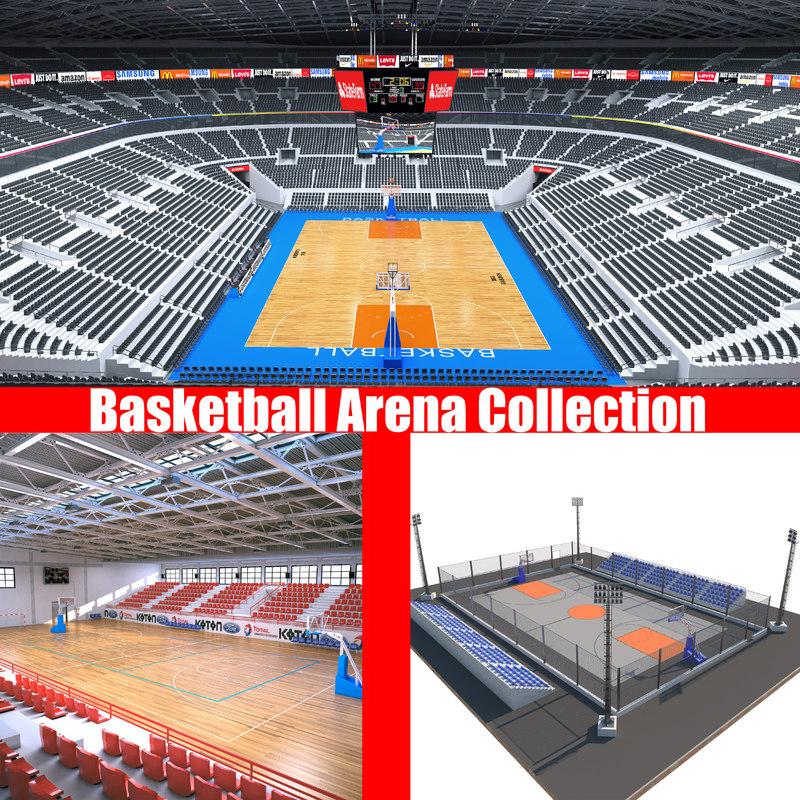 3D basketball basket ball