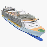 cruise ship oasis seas 3D model