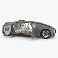 Mercedes Benz F015 Self Driving Car Concept Rigged