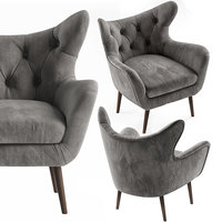 bouck wingback chair 3D model