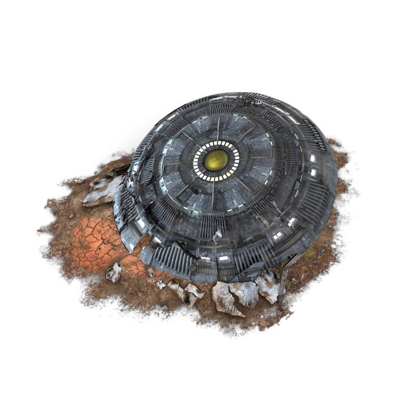 crashed ufo 3D model