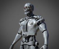3D metal skull model