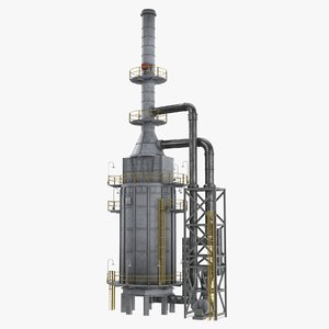 3D oil refinery furnace
